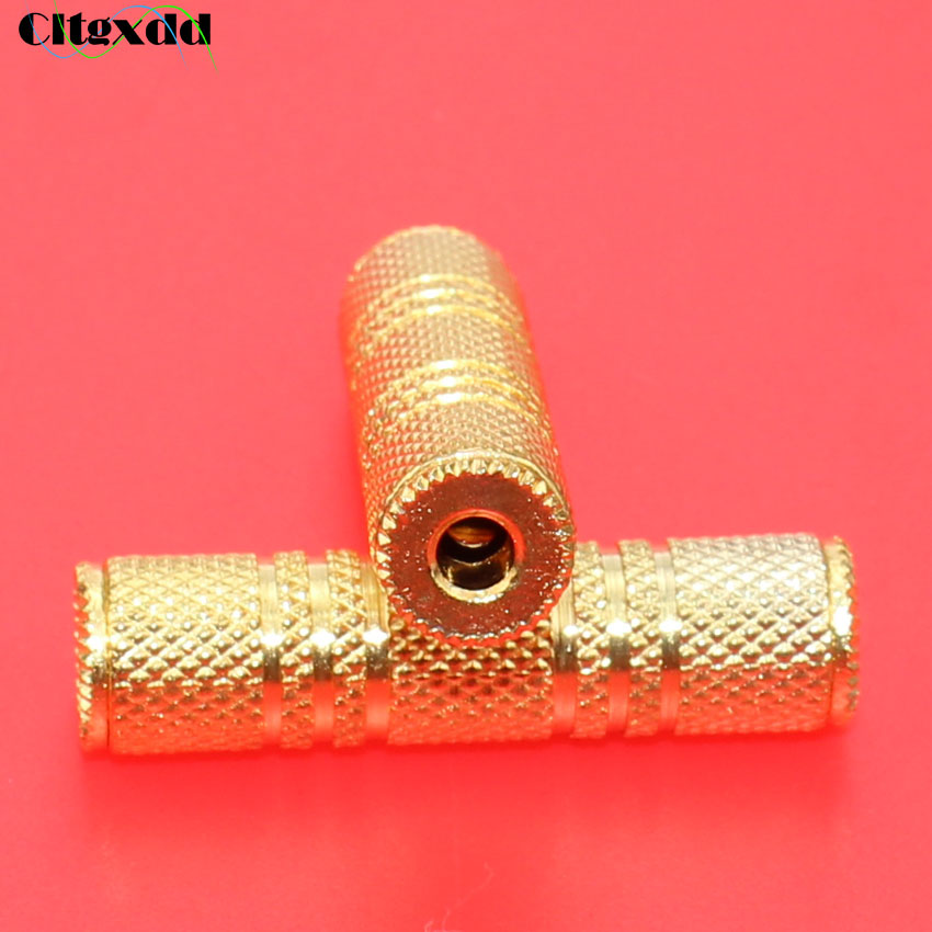 cltgxdd 30pcs Gold plating 3.5mm Female to Female Audio Adapter Coupler Stereo Connector headphone cable Extension 3pin microphone cable connector female male mic jack plug audio microphone connector xlr adapter black
