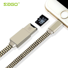 Micro SD Cable 3 in 1 Phone Cable For Lightning Data Charging Cable Micro SD/TF Card Reader Writer For iPhone 7/5s/6/6s For Ipad
