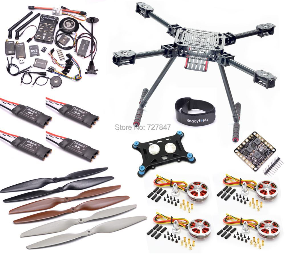 Atualização F550 ZD550 550mm De fibra de Carbono Quadcopter Pixhawk PX4 PIX 2.4.8 conjunto de Controle De Vôo 5010 40A Do Motor 750KV OPTPO ESC