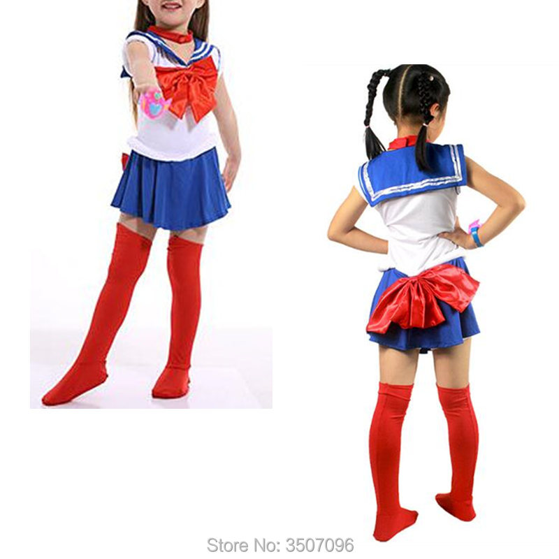 Children Sailor Moon Cosplay Costume Japanese Classic Anime Usagi Crystal Halloween Kid Girls Fancy Dresses Whole Set drop ship