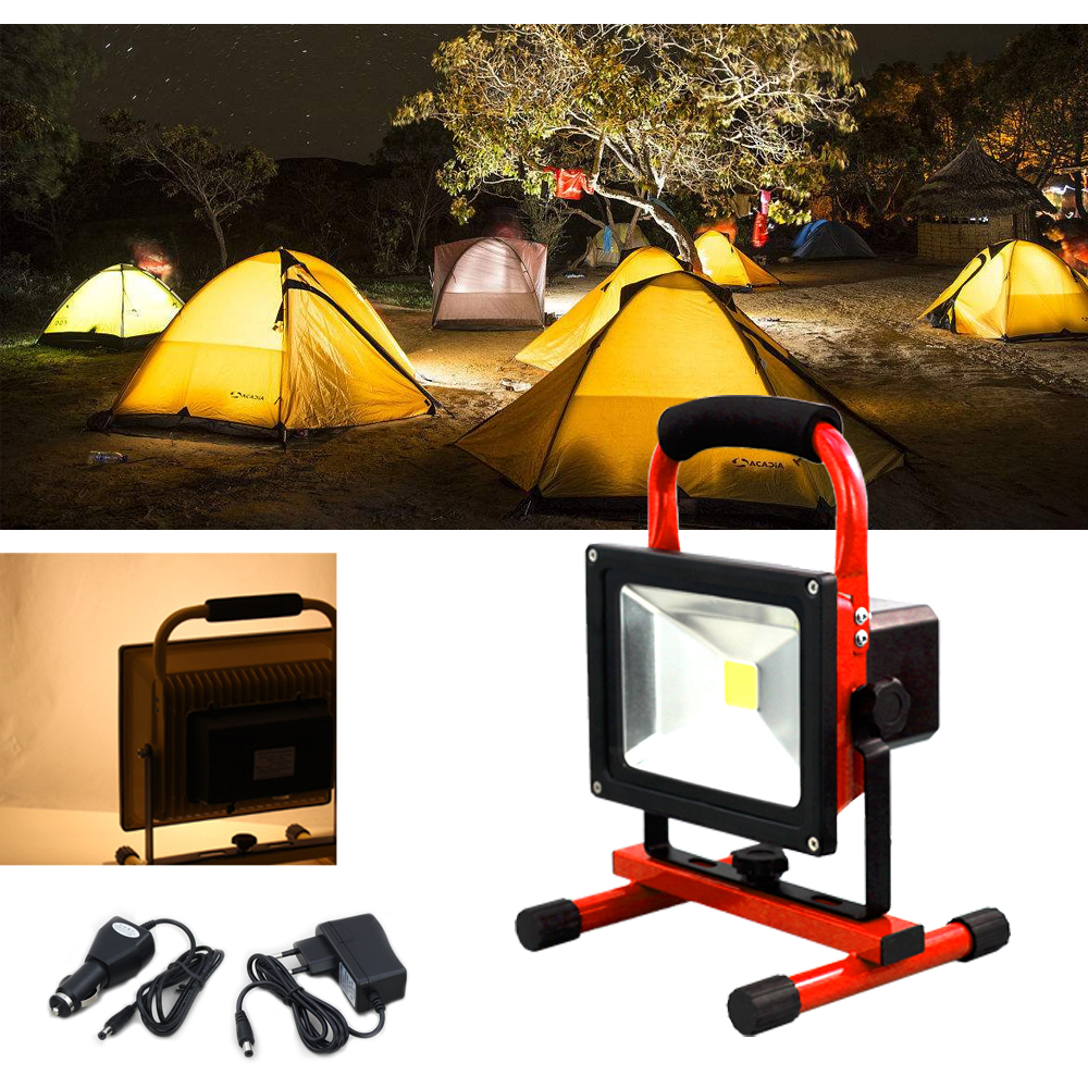 Warm White Rechargeable LED Flood Light portable Waterproof IP65 10W 20W 30W 50W outdoor Work Emergency Lamp proffi home салфетка для очков из микрофибры цвет желтый