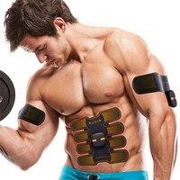 Muscle Stimulator Arm Leg EMS Electrical Soft PU Gel Body Massage Abdominal Slimming Exerciser Adjustable Lose Weight Machine