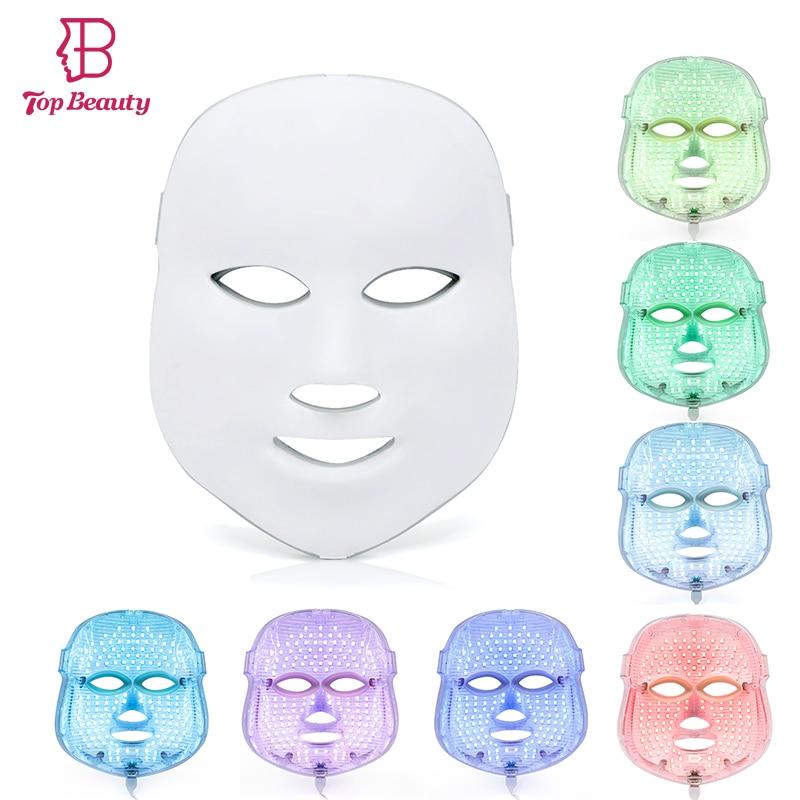 Топ красоты ФДТ свет 7 цветов терапия маска для лица фотон морщинки Уход за кожей лица омоложения кожи, лифтинг Красота spa устройства