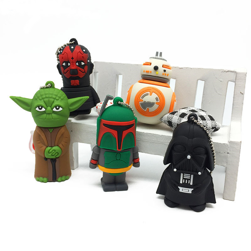 Image 2 - Cartoon usb stick 2.0 flash memory Stick 128GB Star Wars Pen drive 4GB 8GB 16GB 32GB 64GB Pendrive USB Flash Drive free shipping-in USB Flash Drives from Computer & Office