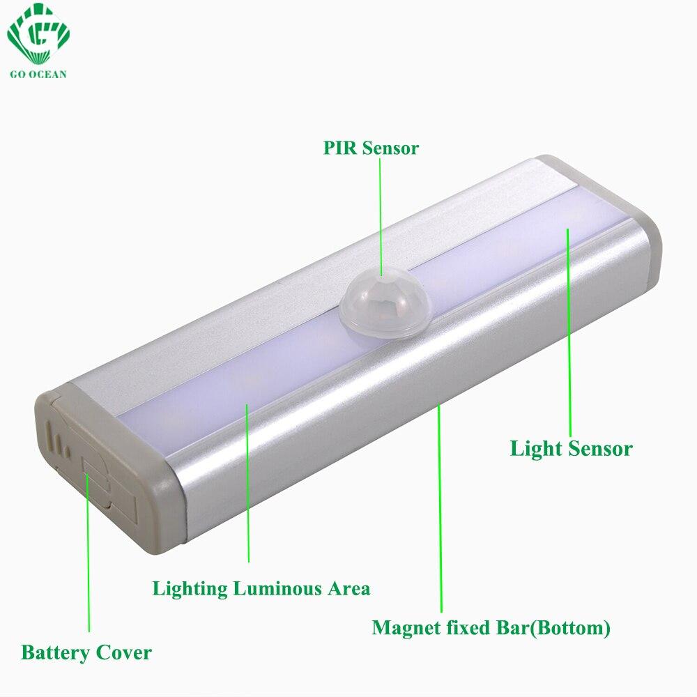 GO OCEAN Under Cabinet Lights Night Light Toliet Motion Sensor Magnetic Strip LED Closet Lights Cabinet Light Battery Night Lamp (22)