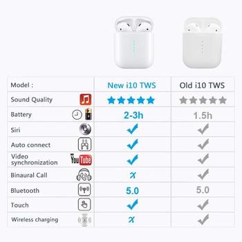 New i10 tws Bluetooth Earphone Wireless earphones Touch control Earbuds 3