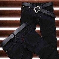 Hot Sale 2016 New Arrival Four Season Men Jeans Retail Wholesale Slim Straight Black Color Brand