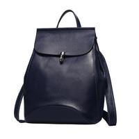 Nesitu Red Purple Black Blue Grey Genuine Leather Small Women Backpacks Real Skin Cute Woman Girl