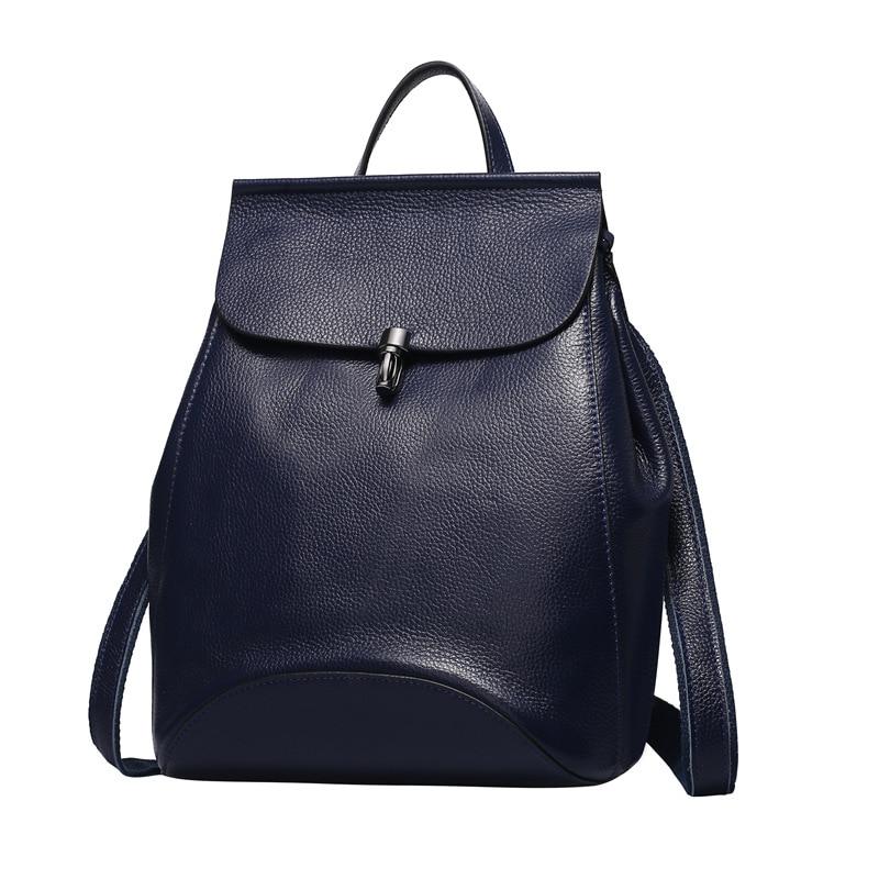 828c7889e509 Nesitu Red Purple Black Blue Grey Genuine Leather Small Women Backpacks Real  Skin Cute Woman Girl Backpack Shoulder Bags  M0774