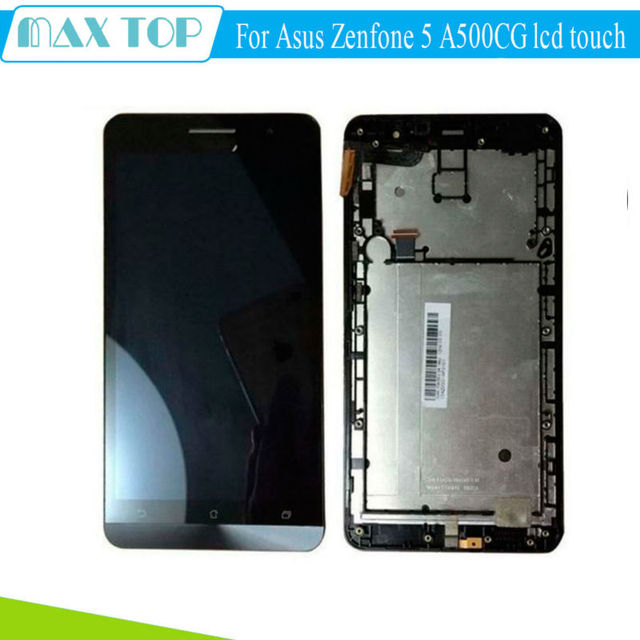 For Asus Zenfone 5 A500CG A501CG T00J T00F LCD Display Panel Touch Screen Digitizer Glass Assembly+Frame Replacement Parts
