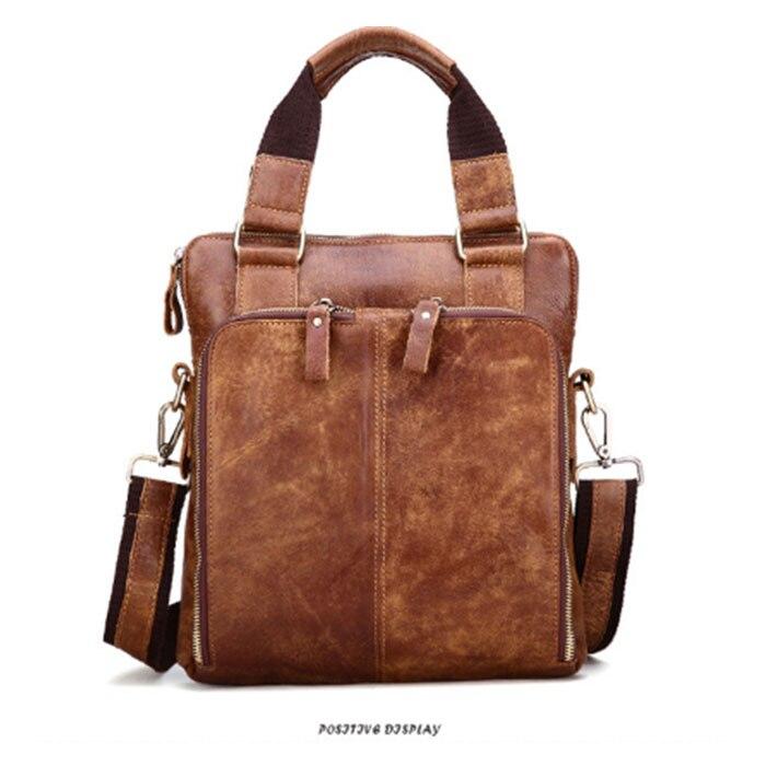 94abf99a2e14 New Genuine Leather Briefcase handbag Natural Crazy Horse Men Messenger Shoulder  Bags Retro Male Handbags Laptop