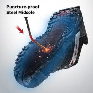 Image 3 - Moda masculina de aço toe sapatos de segurança de trabalho botas de segurança industrial calçado de proteção sapatos casuais