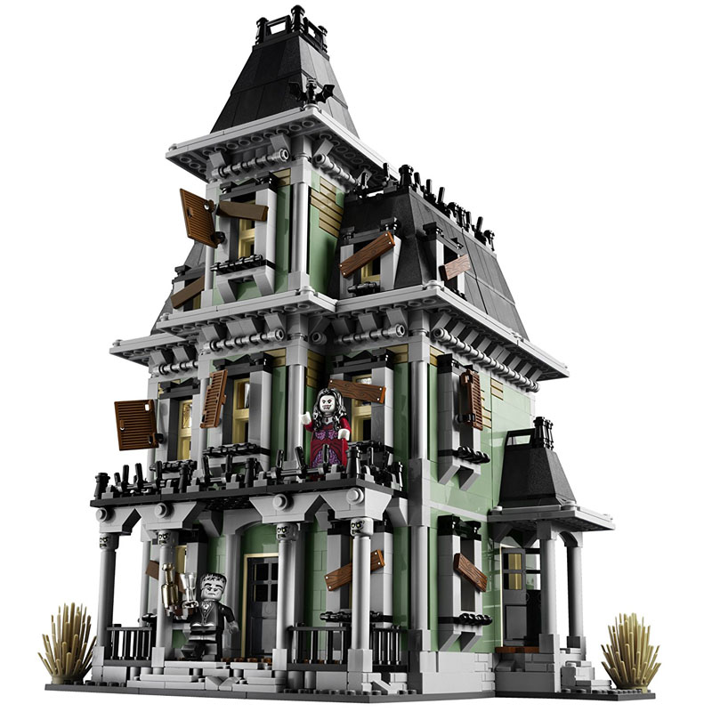 LEPIN 16007 2141pcs Movie Series The haunted house Model Building Block set Brick Educational Toy For children Gift 10228 lepin 16007 2141pcs monster fighter the haunted house model set building kits model compatible with 10228 educational toys gifts