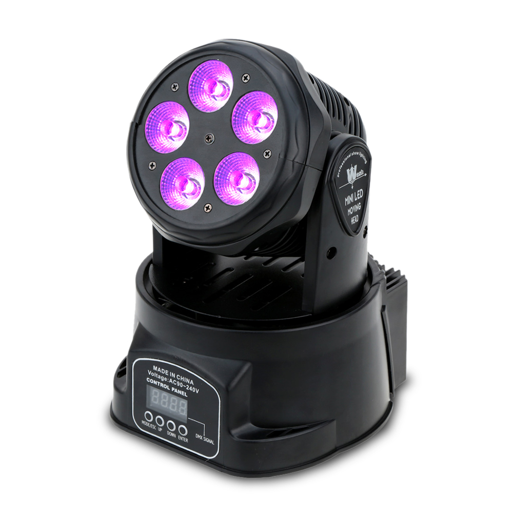 8w 48leds seven color sun pattern plastic stage lamp ac 90 240v - 75w 5 Led Dmx512 Sound Control Auto Rotating 10 15 Channels Colors Changing Head Moving