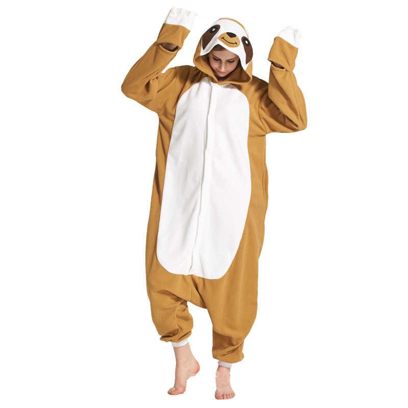 Свободные ленивецы комбинезоны для взрослых кигуруми пижамы флис зимняя  одежда для сна Хэллоуин цельный комбинезон Пижама 9203137c25315