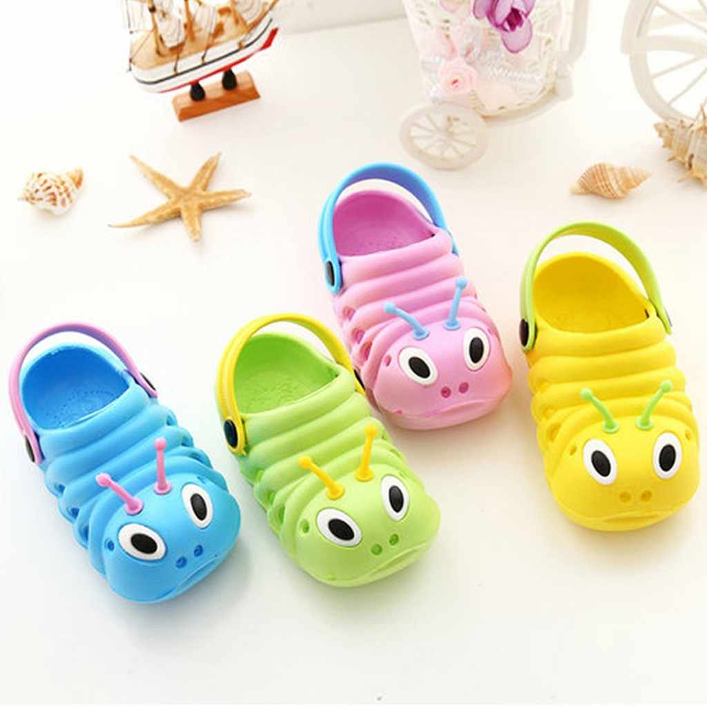 Children Kids Shoes Boys Girls Sandals Slippers Flip Shoes Baby Boys Girls Casual Daily Cute Cartoon Bee Beach Slippers Shoes