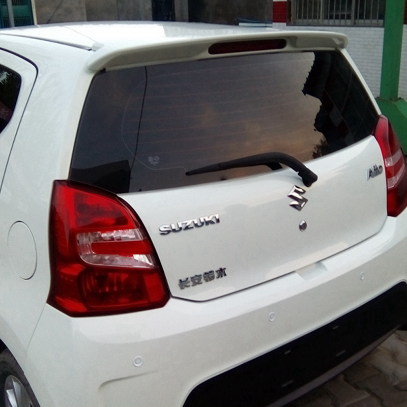 ABS Plastic Unpainted Rear Trunk Tail Wing Decoration Use For Suzuki Alto Roof Spoiler 2011-2015 for honda crv spoiler 2012 2013 2014 2015 car tail wing decoration abs plastic unpainted primer rear trunk roof spoiler