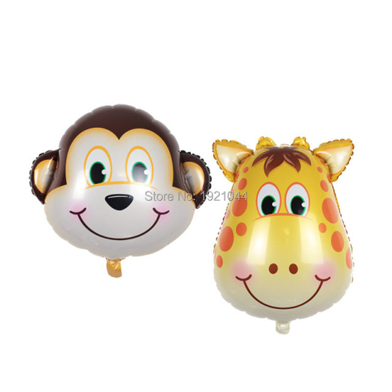 10 Pieces Animal Balloons Tiger Elephant Balloon Foil Balloons Childrens gift Funny Party Decor DIY Birthday Decoration 10
