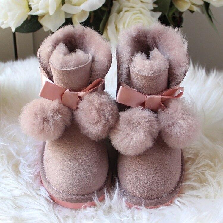 2018 winter australia sheepskin children boots girls boots child int l Brand snow boots kids boots