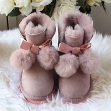 2018 зимние Австралия овчины детей сапоги и ботинки для девочек ребенок int'l бренд снег детские сапоги модная детская обувь