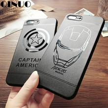 QINUO Cool Marvel Iron Man Superman Case for iPhone X 6 6s 7 Plus 8 The Avengers Soft Matte Slim Case For iphone7 Plus Capa