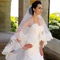 Borda do laço Uma Camada 3 Metros de Comprimento Véus Para Vestidos De Noiva Vestidos de Noiva Acessórios Véu de Tule 2017 Envoltório De Noiva