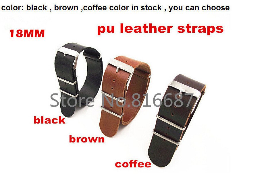 New arrival 1PCS  High quality 18MM PU leather  straps Watch band watch strap black ,brown ,coffee color available jd2912 car relay