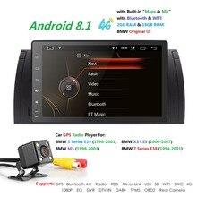 9 «Android8.1 автомобиля NODVD мультимедийный плеер для BMW E39 X5 E53 E38 M5 автомобиля gps Радио Аудио BT USB SD Canbus RDS MIC DAB SWC TPMS 4G