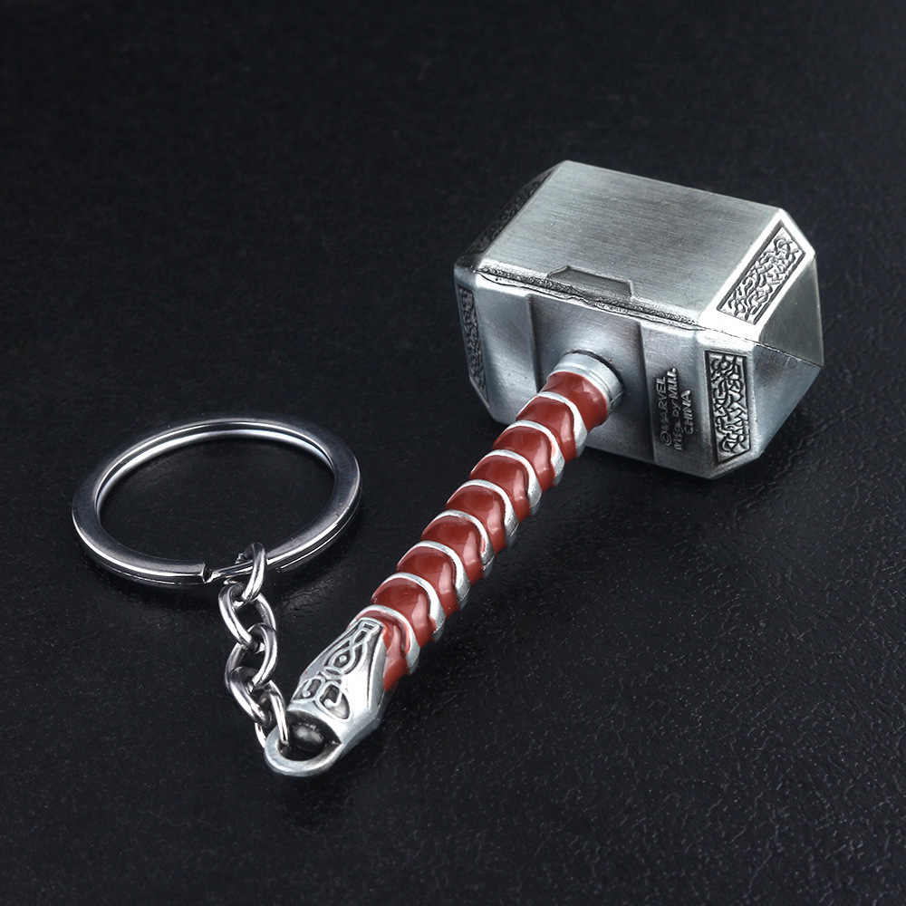 Marvel The avengers 4 Endgame Thor Hammer Keychain Ring toys for adults 2019 New The Avengers Super Hero Thor Hammer Party Favor