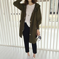 Куртка куртка женщин новые шелковые ткани моды свободные пальто С Капюшоном С длинным пальто Бесплатная Доставка