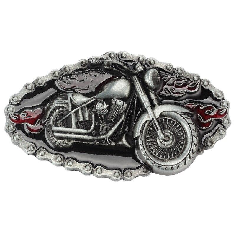 Motorcycle Modelling Cowboy Alloy Belt Buckle