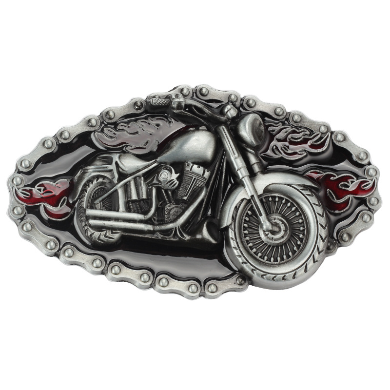 Motorcycle Modelling Cowboy Alloy Belt Buckle