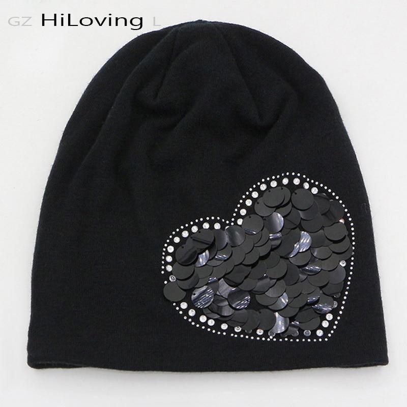2016 brand winter hats black slouchy knitting