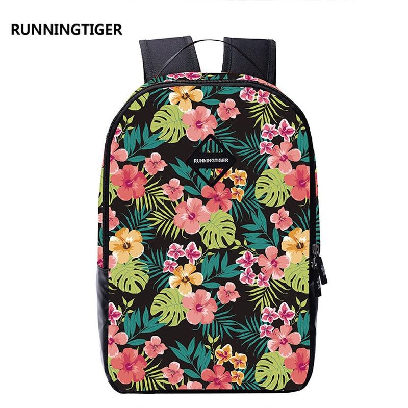 New Hot sale summer beautiful Floral flowers embossing girls students bag school backpacks travel backpack