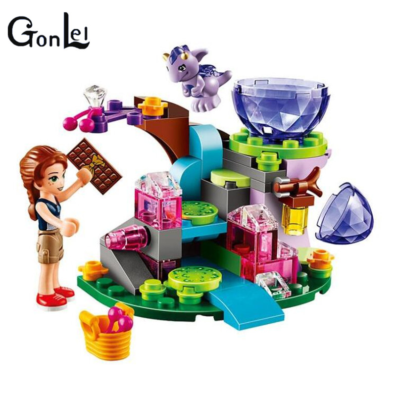 (GonLeI) 10499 10535 83pcs Friends Emily Jones & the Baby Wind Dragon Model Building Blocks Toy Compatible With Bricks set Elves hot nuevo 10415 elfos azari aira naida emily jones cielo fortaleza castillo building block toys