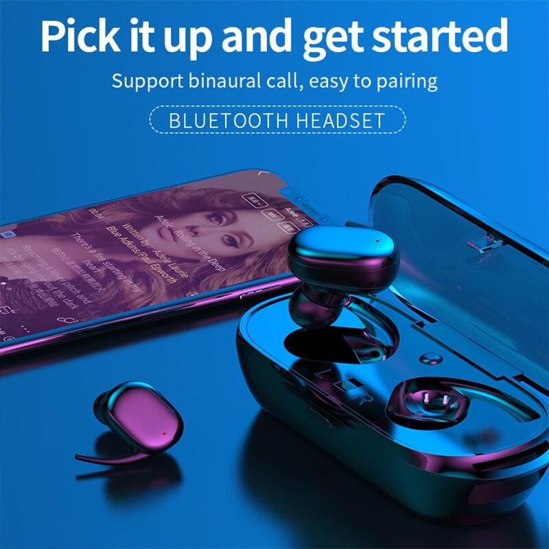 CBAOOO TWS Wireless Mini Bluetooth Earphone 5.0 IPX5 Waterproof Bluetooth Headphones Sport Bass Headset with mic for all phones