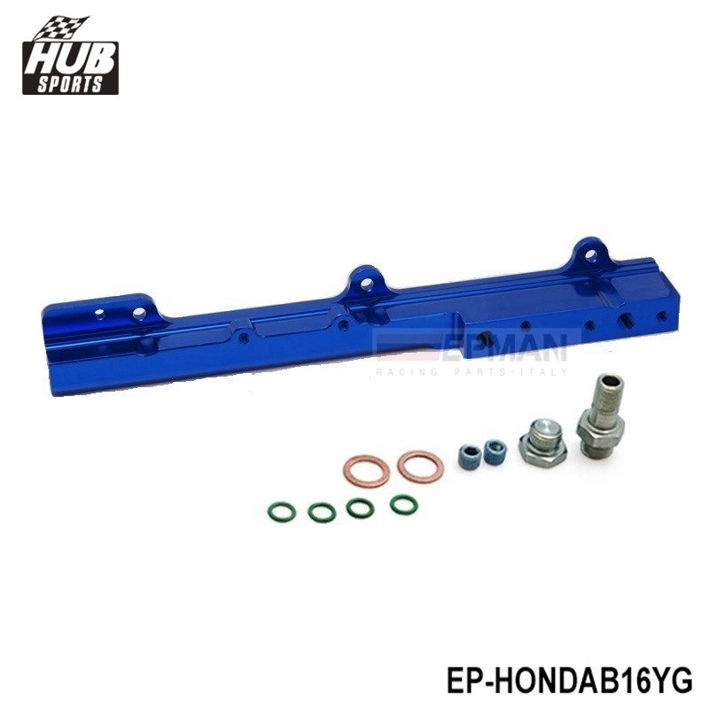 Aluminum Fuel Rail Fit For <font><b>Honda</b></font> <font><b>Civic</b></font> Si B16, <font><b>B16a</b></font>, B16a2 HU-HONDAB16YG image
