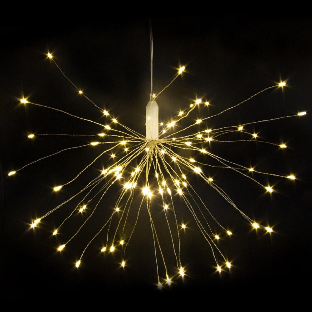 Gelernt 100led 120led 150led Diyled Fee String Licht Batterie Betrieben Starburst Urlaub Licht Mit Fernbedienung Dekoration Für Party Festtagsbeleuchtung