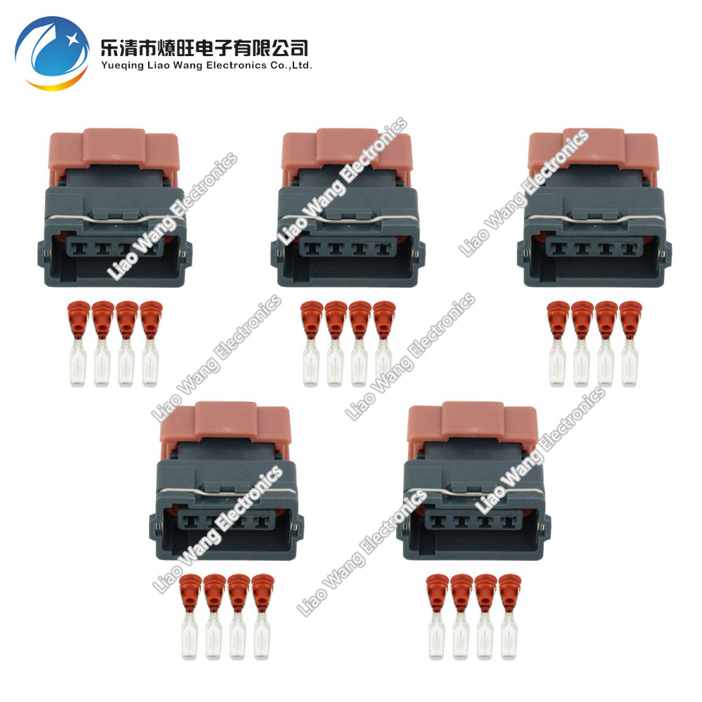 5 Sets 4 Pin Female DJ7045Y-3-21 Mass Air Flow Sensor Connector AMP Tyco Plug Electrical Sealed Auto 4P