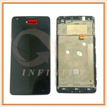 100% Tested Original With Logo For Philips Xenium W6610/W6618 Display+Touch Screen Digitizer Full LCD With Frame assembly
