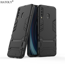 For Samsung Galaxy M30 Case Rubber Robot Armor Shell Hard PC Back Phone Cover for