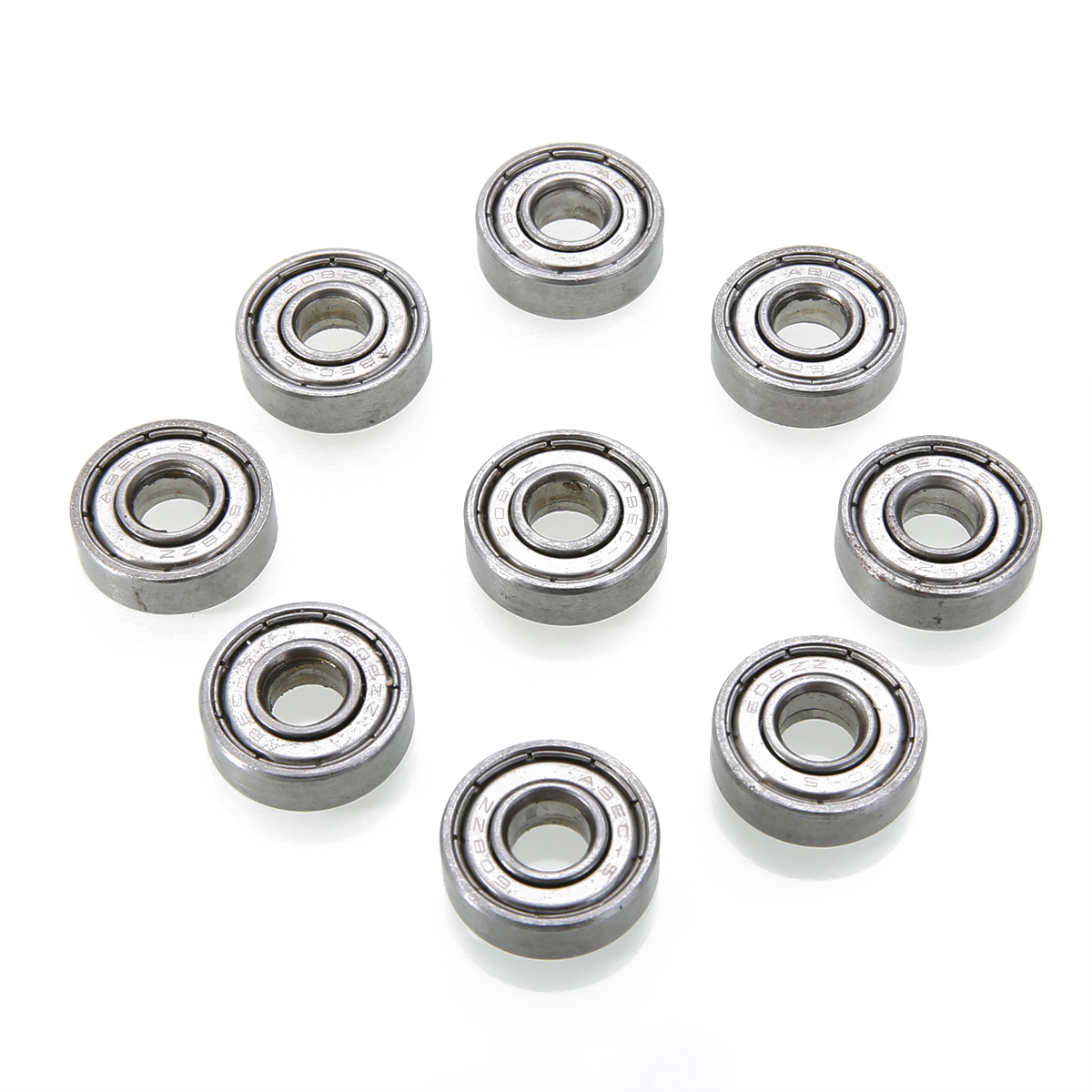 10pcs 608zz Deep Groove Steel Ball Bearings High Precision Bearing For Skateboard Roller Blade Scooter Inline Skating Mayitr gcr15 6024 zz or 6024 2rs 120x180x28mm high precision deep groove ball bearings abec 1 p0 1 pcs