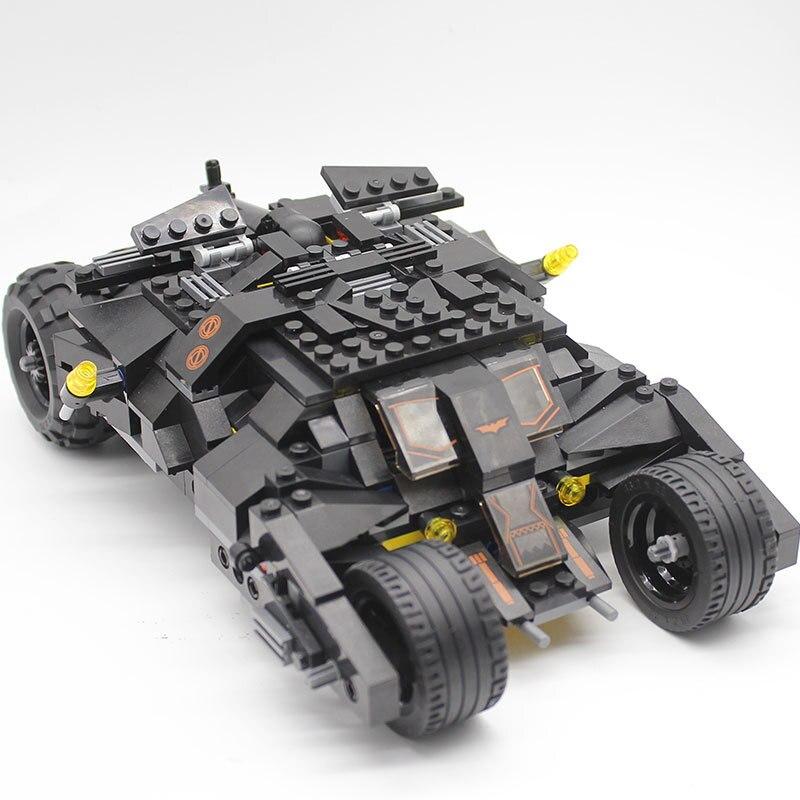 Super héros Marvel chiffres Batman course blocs de voiture camion 325 pièces classique bricolage jouet LEGOINGLYS blocs de construction briques enfants jouets