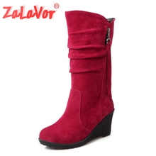 Size 28-50 Women Wedge Half Short Ankle Boots Rainbow Color Winter Snow Boot Fashion Footwear Warm Botas Feminina Shoes стоимость