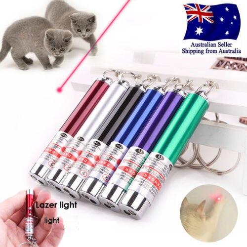 לייזר מצחיק חתול מקל חדש מגניב 2 In1 אדום מצביע לייזר עט עם לבן LED אור ילדים לשחק כלב צעצוע a01