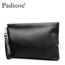 Black first layer real cow leather men clutch bag high quality luxury brand handbags for men soft leather small bags man 61ZP01