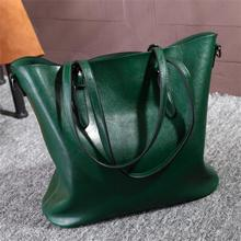 New Ladies Leather bag Women Messenger Bags Vintage Shoulder handbags Female Cross-body Soft Casual Shopping