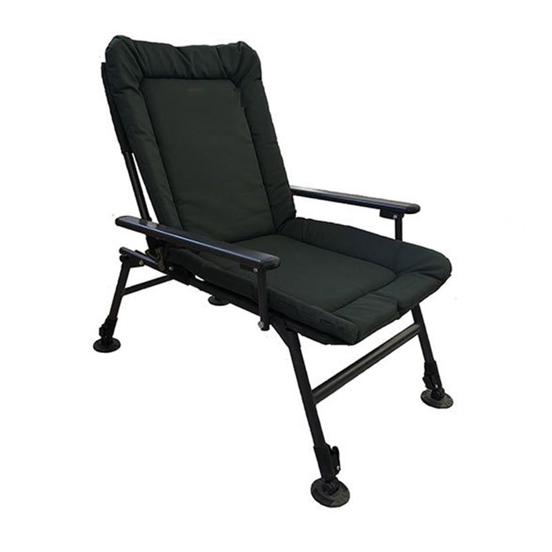 Oversize chaise camping salon Big directeur Tall Outdoor Pliable Portable Noir