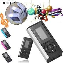 DOITOP мини клип 3,5 мм стерео цифровой MP3 плеер ЖК-экран MP3 музыкальный плеер Поддержка 32 ГБ Micro SD TF карта с светодиодный фонарик