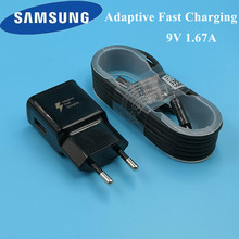 Original EU Samsung galaxy S7 edge Charger TRAVEL adaptive Fast charge Charging for samsung a8 a6 a5 j7 j5 j3 s6 Micro USB Cable цены
